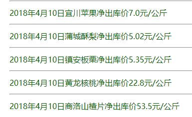 九龙农产品实物报价
